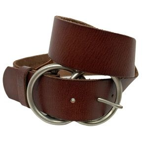 Urban Outfitters Brown Leather Double O Ring Belt